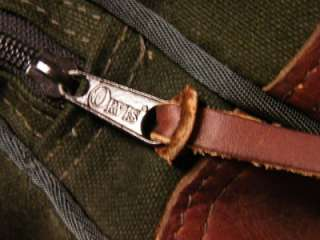 Vintage? Orvis Battenkill Canvas & Leather Carry On Duffle Travel Bag