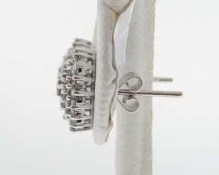 4ctw Genuine Diamonds Solid 18k White Gold Earrings