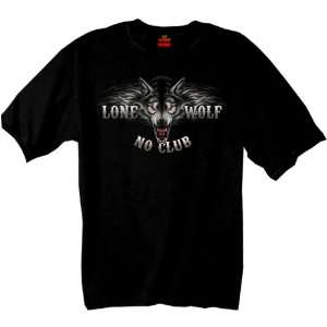 Leathers Black XX Large Lone Wolf Double Sided Biker Shirt Automotive