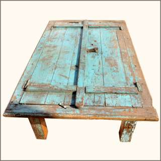 Rustic Antique Distressed Reclaimed Teak Wood Large Dining Table for 6