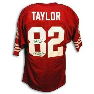 John Taylor Signed San Francisco 49ers Red Throwback