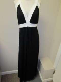 Karen Kane Hamptons Banded Maxi Dress 3X Black/White NWT $112