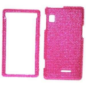 New Hot Pink Sparkling Rhinestones Full Diamond Bling