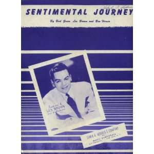 Sentimental Journey Vintage Sheet Music with Les Brown