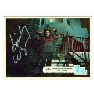 Lindsay Wagner Autographed/Hand Signed card The Bionic Woman