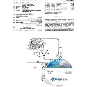 NEW Patent CD for LIQUID LEVEL SENSING DEVICE