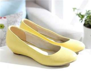 elegant women shoes low wedge kitten heel dress slide pumps