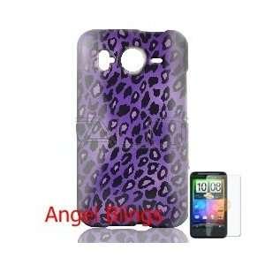 HTC Inspire 4g Leopard   Purple Case + Screen Guard Cell