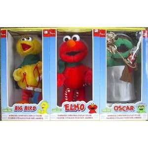 Animated Elmo, Big Bird, Oscar Sesame Street Christmas