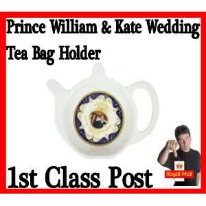 Kate Middleton Royal Wedding Tea Bag Holder Ideal Gift Home & Kitchen