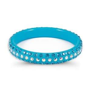 Aquamarine Rainbow Swarovski Crystal Bangle Bracelet Jewelry