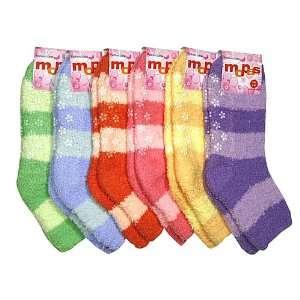 HS Winter Fuzzy Socks Big Stripe Line Design (size 9 11) 6