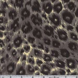 58 Wide Silkies High Fashion Leopard Print Grey/Black Fabric