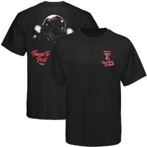 Texas Tech Red Raiders Black Helmet In Air T shirt Sports