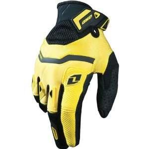 Road/Dirt Bike Motorcycle Gloves   Black/Yellow / Large Automotive