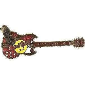Hard Rock Cafe Pin 6168 Nashville Red Gibson Black Boot
