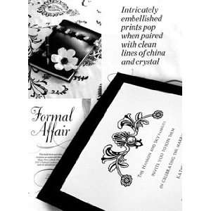 Wedding Invitations Kit Jet Black with Pearl Jewel Brad