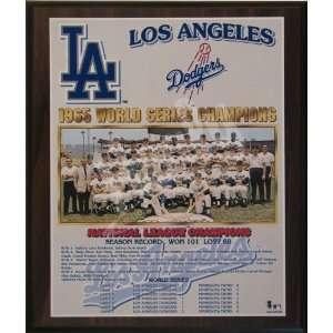 1965 Los Angeles Dodgers Major League Baseball World Series