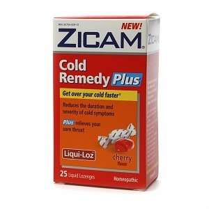 Zicam Cold Remedy Plus Sore Throat Relief Liquid Lozenges