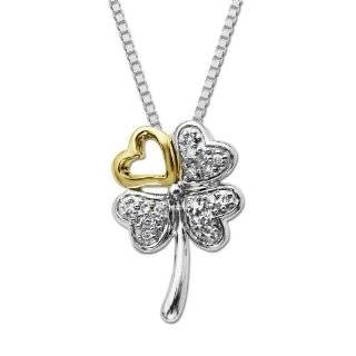 Diamond Four Leaf Clover Pendant (.072cttw, I J Color, I2 I3 Clarity