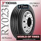 Yokohama RY023 255/70R22.5   22.5 tire semi truck tires 255 70 22.5