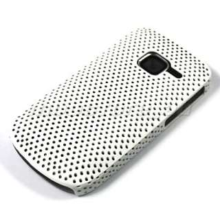 HARD RUBBER CASE COVER SCREEN FILM FOR NOKIA C3 WHITE