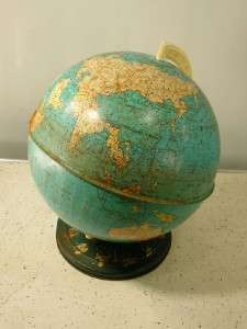 Vintage OHIO ART COMPANY GLOBE Zodiac Signs Rustic Condition