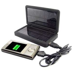 Solar Battery Charger for iPods, Phones, Cameras & USB