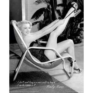 Marilyn Monroe Mans World Sexy Photography Pin Up Poster 16 x 20