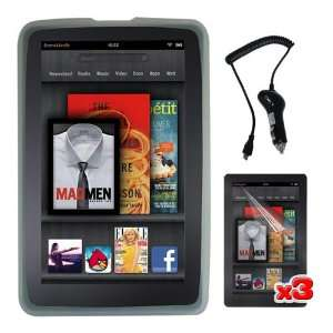 Case + Black Rapid Car Charger for  Kindle Fire Electronics