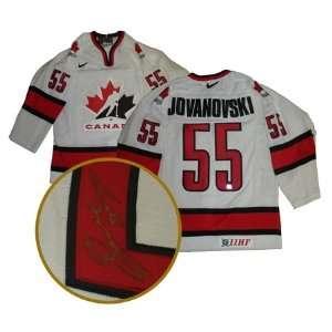 Ed Jovanovski Autographed/Hand Signed Jersey Team Canada