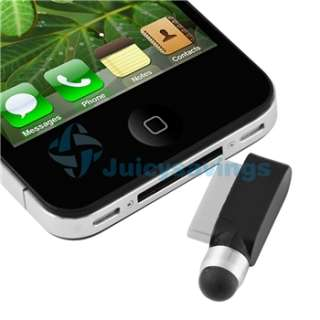 Accessory Bundle Black Leather Flip Case for Apple iPod Touch 4th