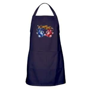 Apron (Dark) Double Trouble Bears Angel and Devil