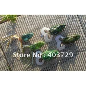 hot frog 5pc soft lure frog fishing lure hard lure plastic