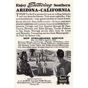 Ad: 1940 Rock Island: Southern Arizona California: Rock Island: Books