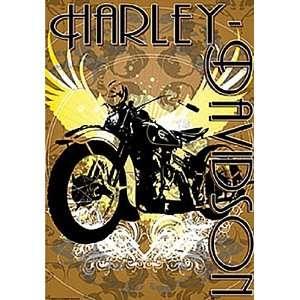 Harley Davidson Vintage Bike Estate Flag