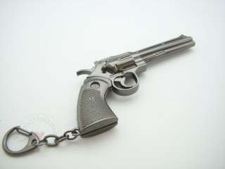 New Smith & Wesson Revolver Miniature Pistol Gun metal model Keychain