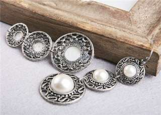 L4381 New Fashion Jewelry Antique Silver Pearl like Earrings