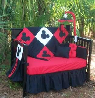 New custom Crib Bedding Set m/w MICKEY MOUSE