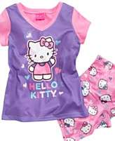 AME Kids Sleepwear Set, Girls Hello Kitty Faux Layered Shirt and