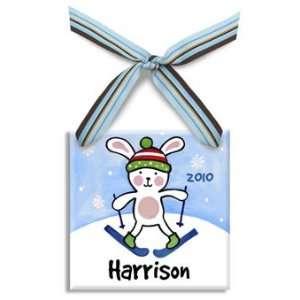 snow bunny christmas ornament (boy)