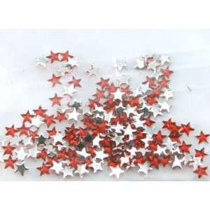 Zink Color Nail Art Acrylic Rhinestone Red Star 100 Piece