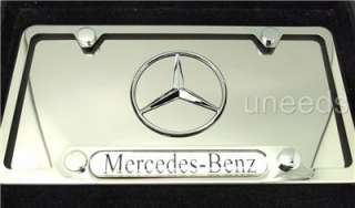 Mercedes Benz Metal Chrome Polished steel License Plate + License