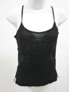 THEORY Black Suede Spaghetti Strap Tank Top Shirt M