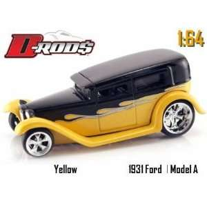 Jada Dub City D Rods Yellow & Black 1931 Ford Model A 164