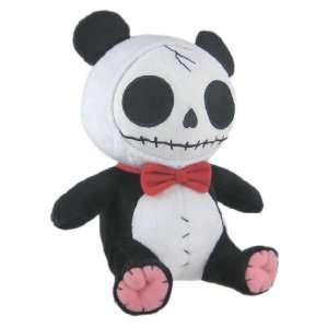Bones Black Plush Panda Bear   12 Inch Stuffed Skull Toys & Games