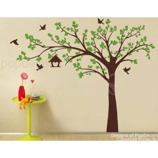 Big tree with love birds(100 W)   Wall Decals Art Stickers for
