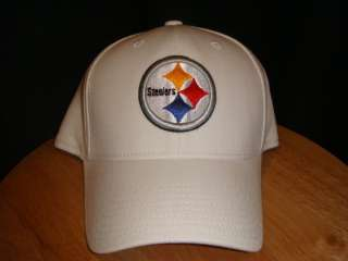 REEBOK PITTSBURGH STEELERS TEAM HAT CAP WHITE
