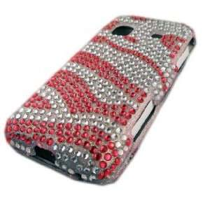 Samsung Galaxy M828c Precedent Straight Talk Pink Stripes Bling Pretty