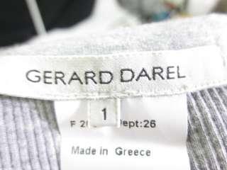 GERARD DAREL Gray Rhinestone Scoop Neck Shirt Size 1